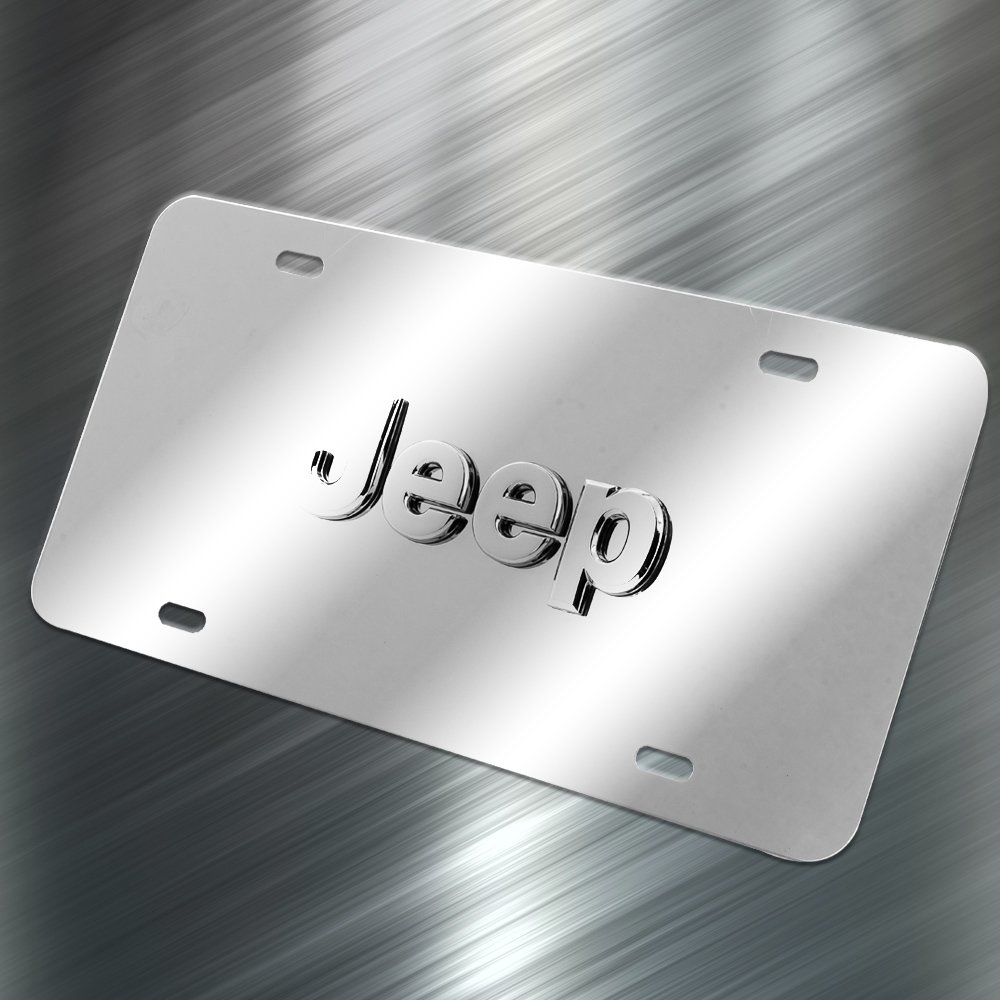 Pilot Automotive LP-130 Stainless Steel 3-D License Plate (ABS Plastic Decal, Officially Licensed Jeep) by Pilot Automotive (Image #3)