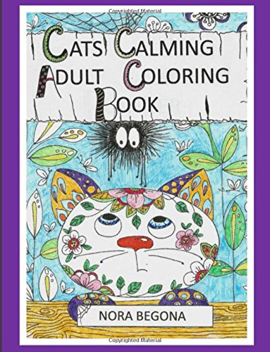 Cats Calming Adult Coloring Book PDF