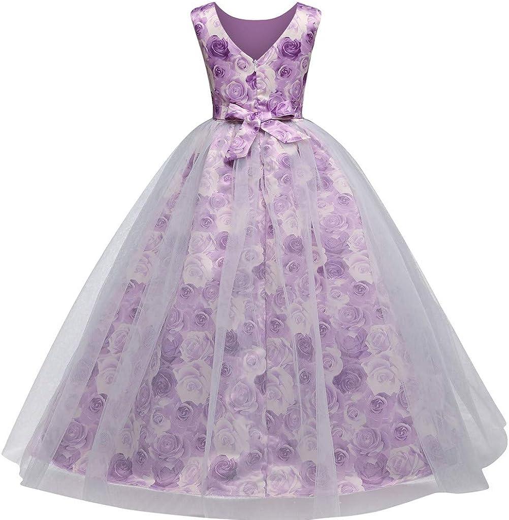 GorNorriss Baby Dress Floral Vintage Print Girl Princess Costume Party Tutu Lace Dress