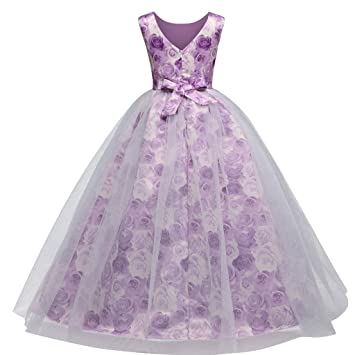 ad22690638 Cyhulu Teen Kids Girls Princess Dress Cloth