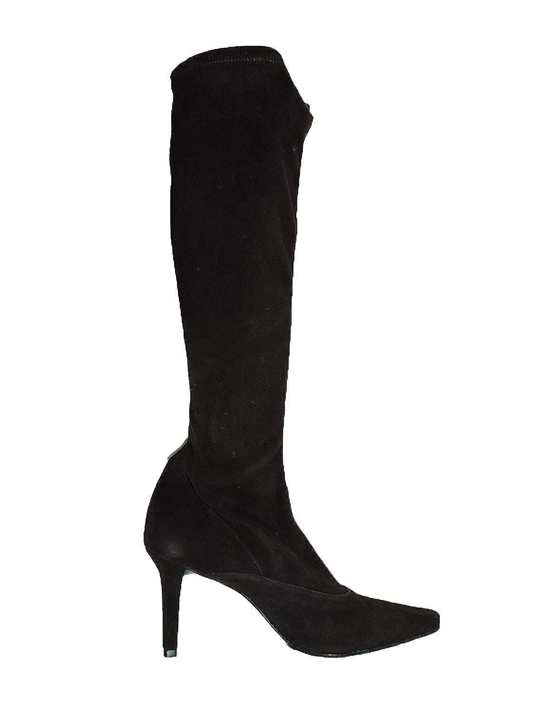 """Stuart Weitzman Womens Benefit Black Suede Knee High 3"""" Heel Boot, Size 10 AA, Narrow"""