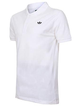 c8823b59e457 Men's Adidas Originals Polo Shirt T-Shirt - Black, White (XL, White ...