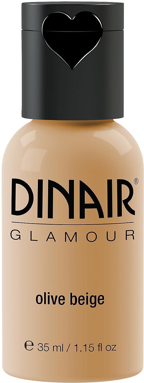 Dinair Airbrush Makeup Foundation | Olive Beige | GLAMOUR: Natural, Light coverage, Matte 1.15 oz.