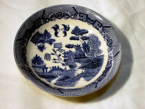 - Blue Willow Soup Bowl Marked Japan