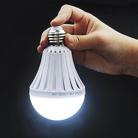 LED Ampoule 7W E27 Lampe d'urgence Intelligente Rechargeable L'induction du  corps humain