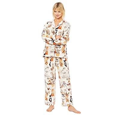 Saucy Cat Flannel Pajama at Amazon Women s Clothing store  8b7a31c6d
