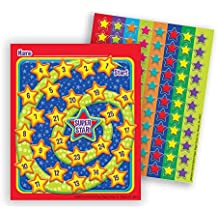 Eureka Color My World Super Stars Mini Reward Charts with Stickers, Package of 36