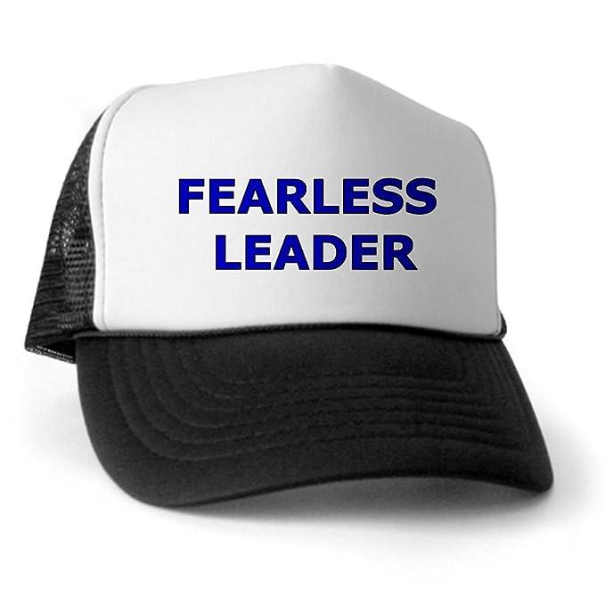 8866633a CafePress - Fearless Leader Trucker Hat - Trucker Hat, Classic Baseball Hat,  Unique Trucker