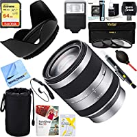 Sony (SEL18200 ) 18-200mm F3.5-6.3 OSS Alpha E-mount Interchangeable Lens + 64GB Ultimate Filter & Flash Photography Bundle