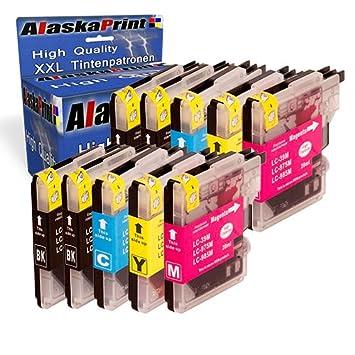 10x Compatible Cartucho de tinta Brother LC-985 / LC985 Alta capacidad para Brother MFC-J265W MFC-J410 DCP-J125 DCP-J415W DCP-J515W DCP-J140W DCP-J315 ...
