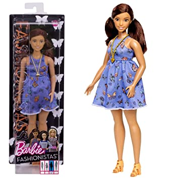 Mattel Vestido de Mariposa Barbie DYY96 | Curvy Fashionistas 66 | Muñeca