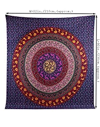 Large Hippie Tapestry, Hippy Mandala Bohemian Tapestries, Indian Dorm Decor, Psychedelic Tapestry Wall Hanging Ethnic Decorative Urban Tapestry By Rajrang