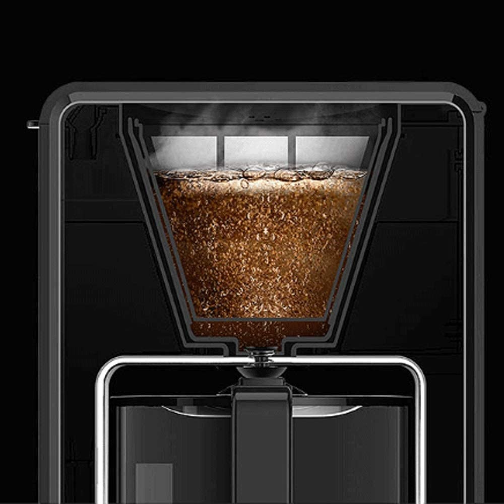 Lamyanran Coffee Machines Bean to Cup Automatic Home Automatic American Drip Small One Coffee Machine for Office Catering//Commercial 1200ml Large Water Tank With Filter Drip Pot