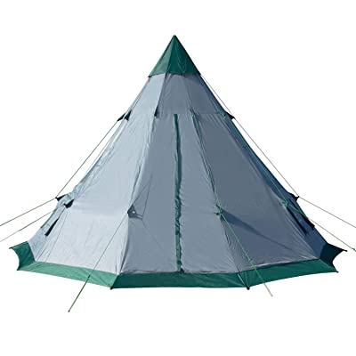 Winterial 6-7 Person Teepee Tent, 12' x 12' for Family Camping or Festivals with Windows and Mesh Vents
