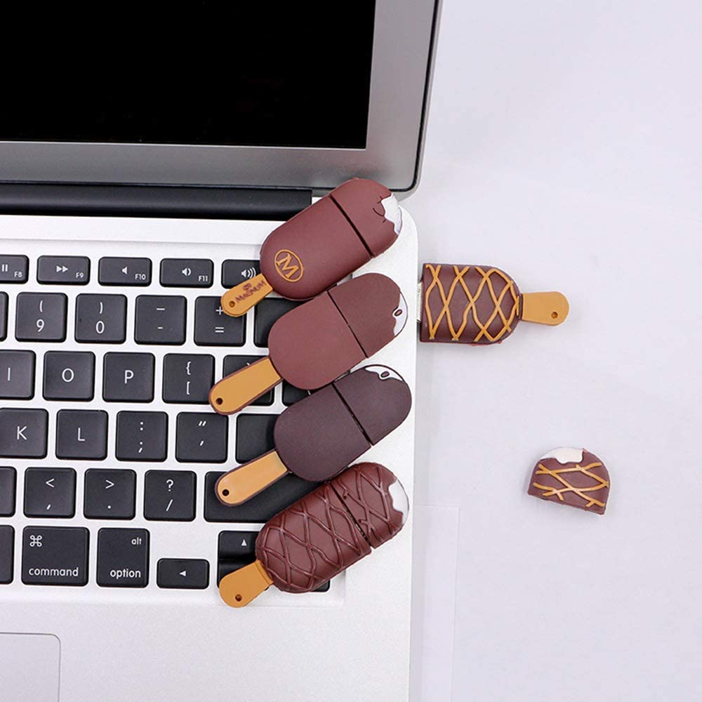 4GB//8GB//16GB//32GB//64GB//128GB External Storage Thumb Drive USB Flash Drive Memory Stick Creative Ice Cream Shape Suitable for Laptop Desktop Flash Drive
