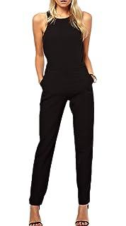 915a2b16361d51 Nouvelle Sexy Femmes Casuel Rompers Sans manches Partie de soirée  Combinaisons Jumpsuit Pantalons Noir Monissy