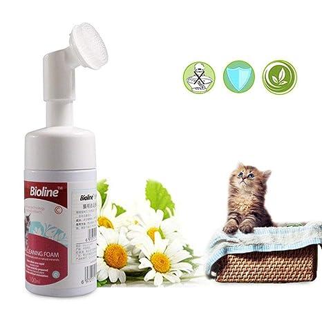 AUOKER - Limpiador de Patas, sin enjuagar, champú sin Agua, 100% Natural para Gatos, Cuidado de ...
