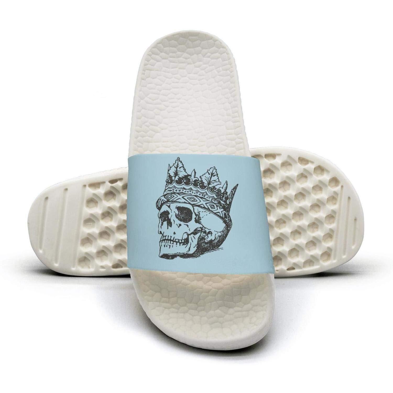 Skull art skull crown Mens sliders Slides Shoes