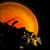 VELIHOME Lâmpada de projeção, rotação de 180 graus, luz de LED para projeção do pôr do sol, luz noturna de atmosfera de…