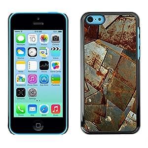 TopCaseStore / la caja del caucho duro de la cubierta de protección de la piel - Sheet Metal Rust Ship Corrosion Construction - Apple iPhone 5C