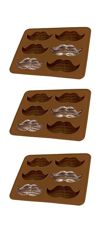 MoldFun Funny Mustache Beard Silicone Mold for Fondant Chocolate Candy Gum Paste Cake Decorating Jello Sugar Ice Cube