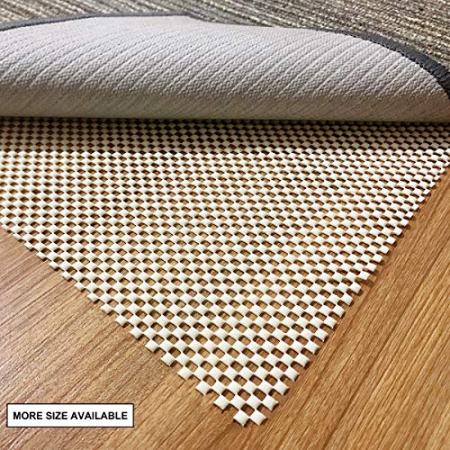 aurrako Non Slip Rug Pads 2x3 Ft Extra Thick Gripper for Hardwood Floors,Rug Gripper for Carpeted Vinyl Tile and Any Hard Surface Floors Under Area Rugs,Runner Anti Slip Non Skid Carpet Mat (2'x3')