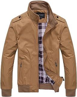 ad385d8117e9b Hombre Casual Chaqueta Jacket Cazadora Mangas Largas Cierre De Cremallera  Outwear Tops