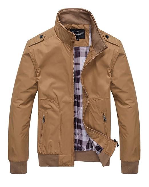 Hombre Casual Chaqueta Jacket Cazadora Mangas Largas Cierre De Cremallera Outwear Tops: Amazon.es: Ropa y accesorios
