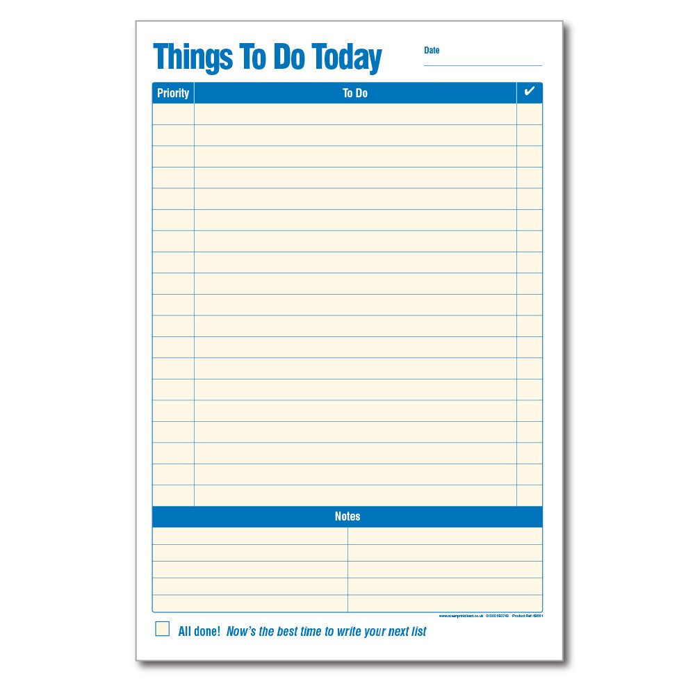 36129bc7aeb8 Things To Do Today Pad (Pack of 2)