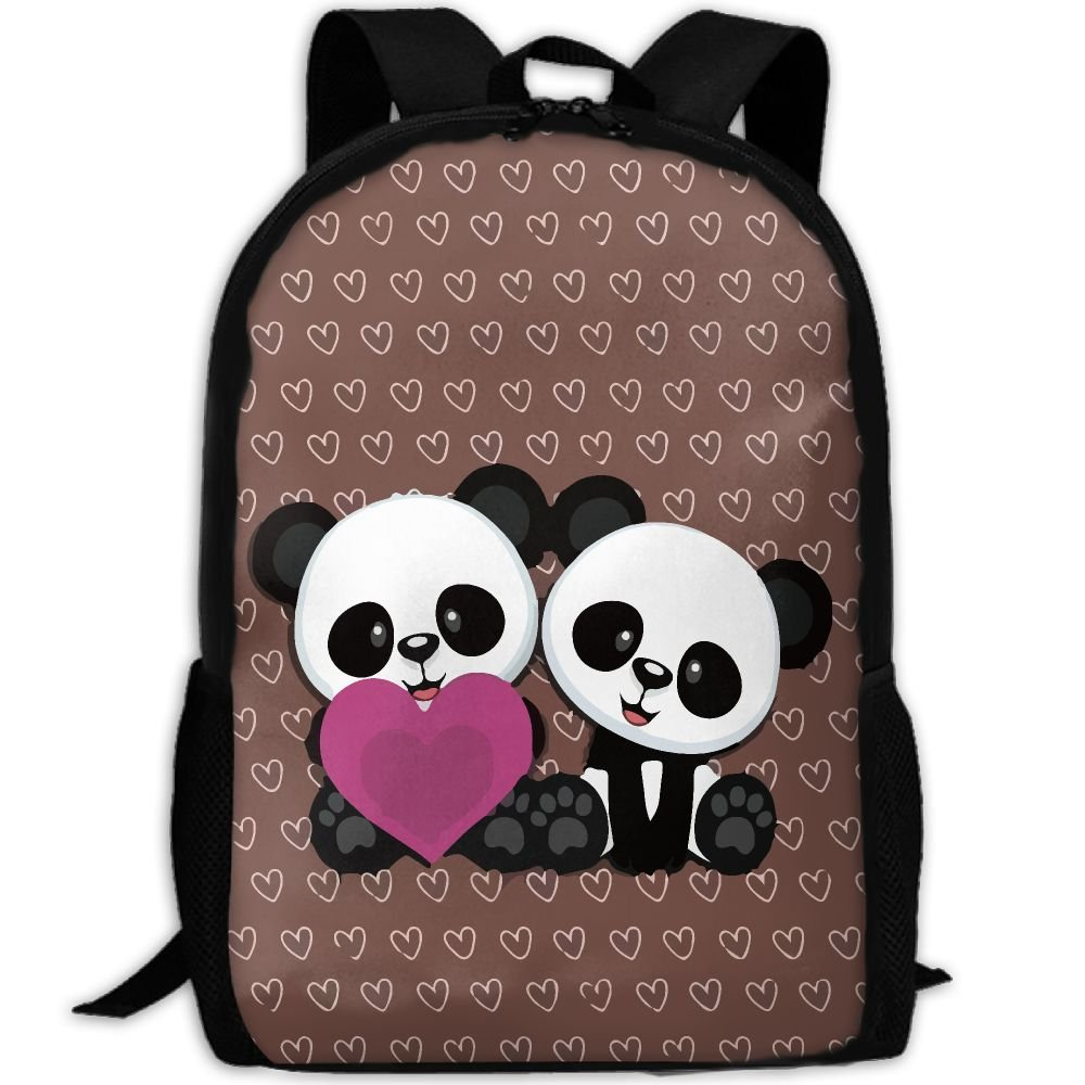 85%OFF ZQBAAD Cute Panda Luxury Print Men And Women s Travel Knapsack c71b8a1e51