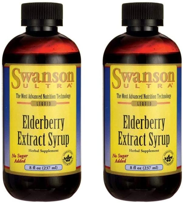 Swanson Elderberry Extract Syrup Immune Support Sambucus 8 fl oz Liquid 2 Pack