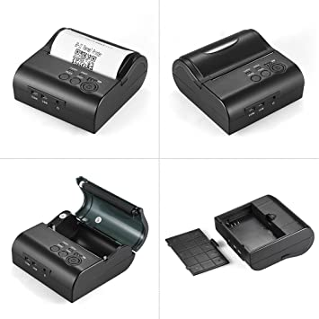 Aibecy POS-8001DD 80mm Mini Portable Bluetooth Thermal Printer Receipt Bill  Ticket POS Printing for Android iOS Windows