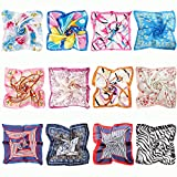 BMC Fashionable Chic 12pc Mixed Floral Fun Patterns and Colors Womens Scarf Accessory Set
