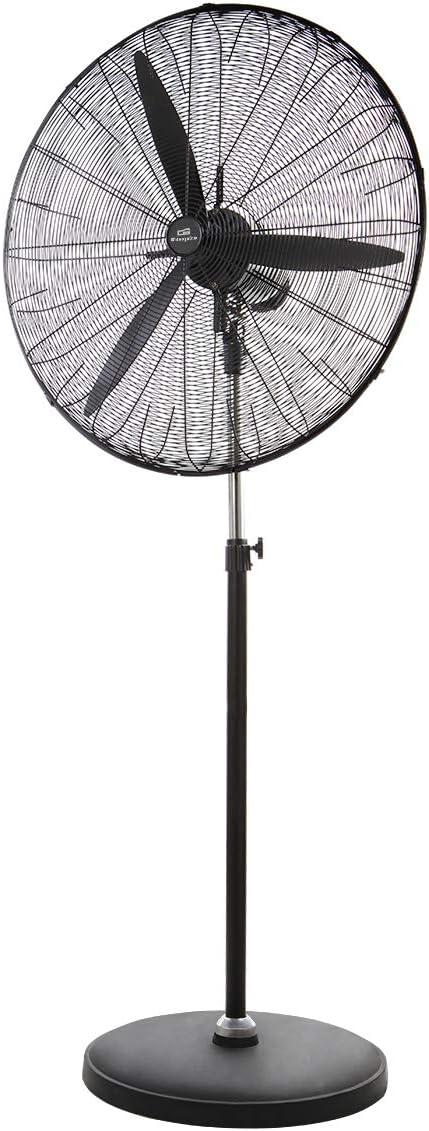 Orbegozo PWS 0165 Ventilador de pie industrial, 65 cm diámetro de aspas, cabezal multiorientable, oscilante, 3 velocidades de ventilación, 140 W, Negro