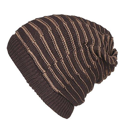 hat Brown double Set stripe Head hombres heap tapas Halloween Hat Doble sombreros circulares de Ca Navidad invierno hat sombreros MASTER Sombrero caliente tapas engrosamiento Señoras beanie Color xwFZPqF7g