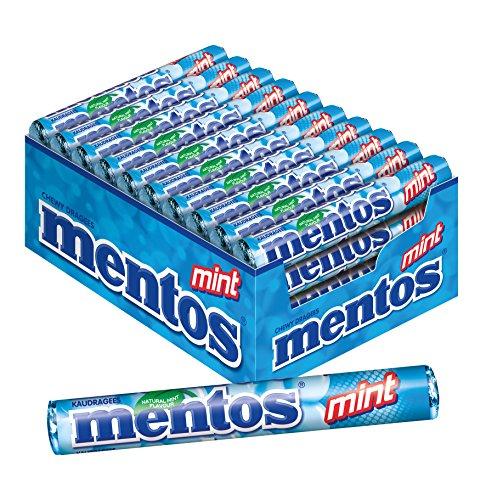 Mentos Mint Dragees, 40 Rollen Bonbons, Pfefferminze, Multipack für frischen Atem
