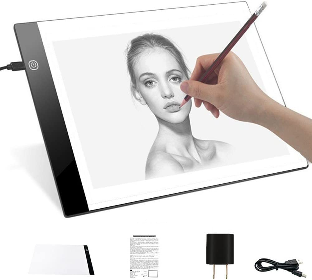 Leoie Art Supplies A4 LED Graphic Tablet Copy Board Writing Painting Copy Pads Tracing Board Digital Drawing Tablet Gift European Regulation
