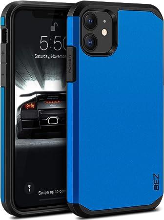 BEZ® Cover iPhone 11, Custodia per iPhone 11 Rigida Protettiva con Impact [Antiurto, Assorbimento-Urto] Bumper Protezione da Cadute e Urti Posteriore, ...