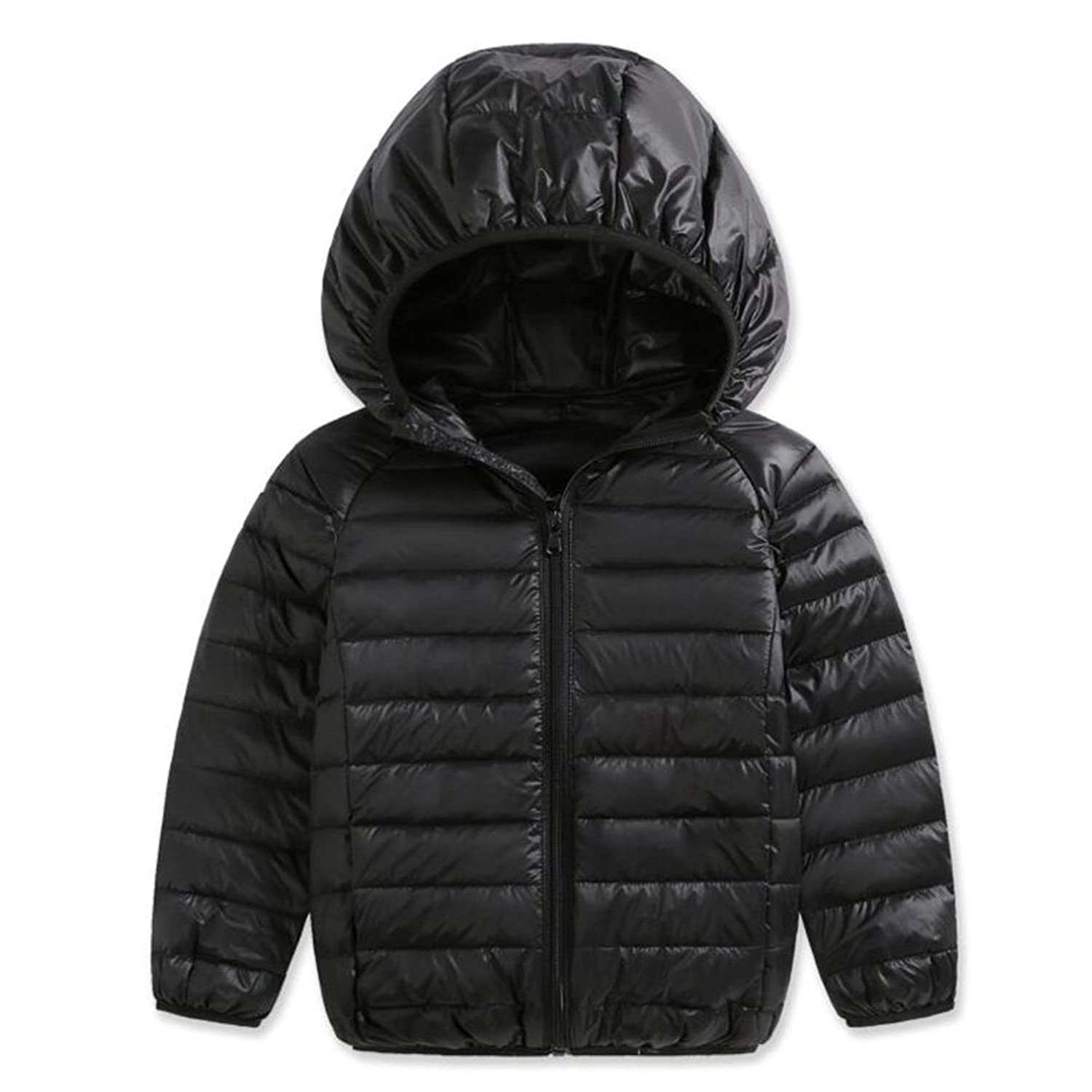 43147a26b Hooded design with candy color for on-the-go use: long sleeve down jacket  with hooded design and trendiest allover to make your kid a member ...