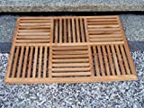 TeakStation Grade A Teak Wood 36''x24.5'' Basket Weave Door / Shower/ Spa / Bath Floor Mat