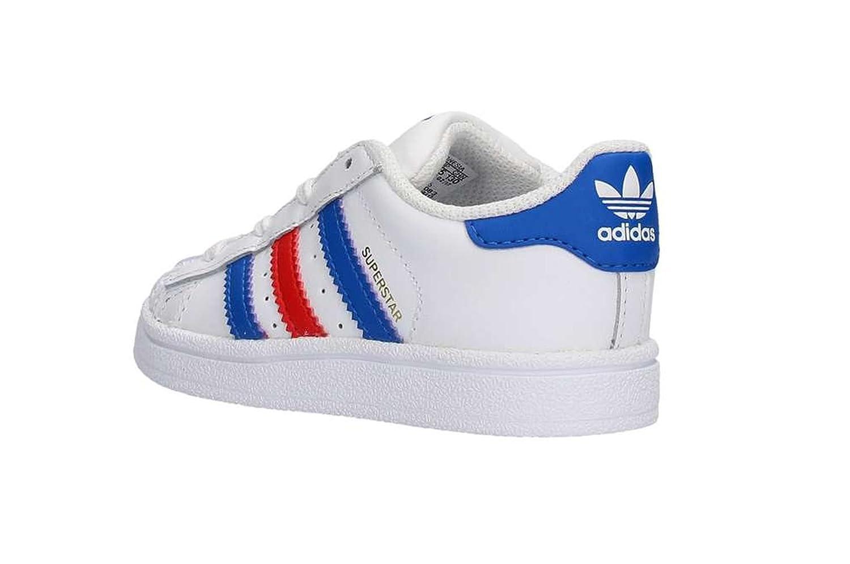 Foundation bambino bianco rosso per unisex bambini Adidas Superstar blu Sneakers unisex 60a0xFq