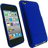 igadgitz Coque Housse Pochette Etui Case rigide de couleur Bleu avec couche de caoutchouc pour Apple iPod Touch 4G 4ème Gen Génération 8 go gb, 32 go gb, 64 go gb + protecteur d'écran