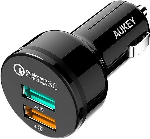 Aukey Quick Charge 3 0 Kfz Ladegerät 34 5w Dual Ports Elektronik