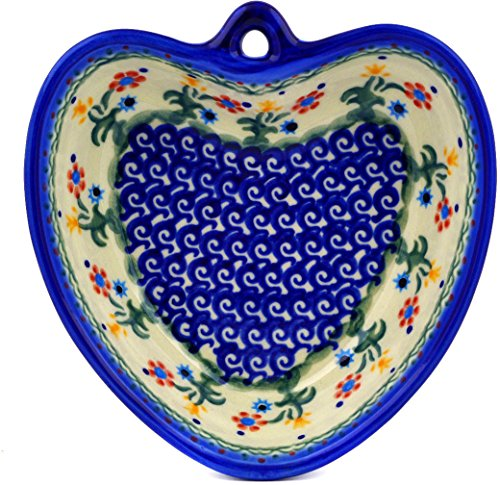 - Polish Pottery Heart Shaped Bowl 6-inch (Spring Flowers Theme)