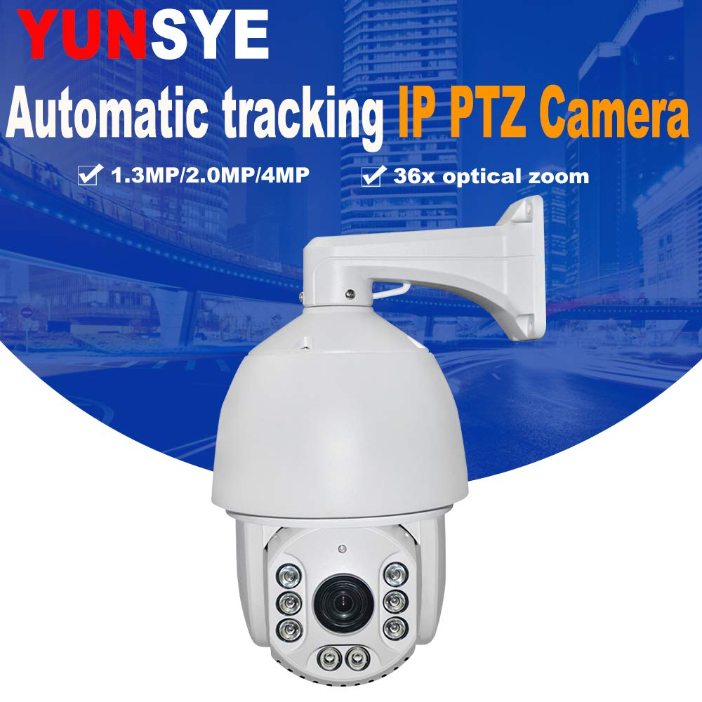 Amazon.com : IP66 Outdoor CCTV 2MP Auto Tracking PTZ Camera H.265 IP PTZ Camera IR Auto Tracker 36X Zoom IR:80M : Camera & Photo