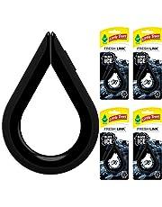 LITTLE TREES Fresh Link - Ambientador automático, Negro/Azul, Negro (Black Ice)