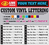 "Lettering Custom Vinyl Letter Text Personalized decal sticker (1"" to 6"" tall) (1"" tall)"