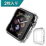 Dalinch Apple Watch 44mm ケース Apple Watch ケース 二個セット 衝撃防止 本体保護 装着簡単 水防止 TPU周り保護ケース For Apple Watch Series 4 (2枚)