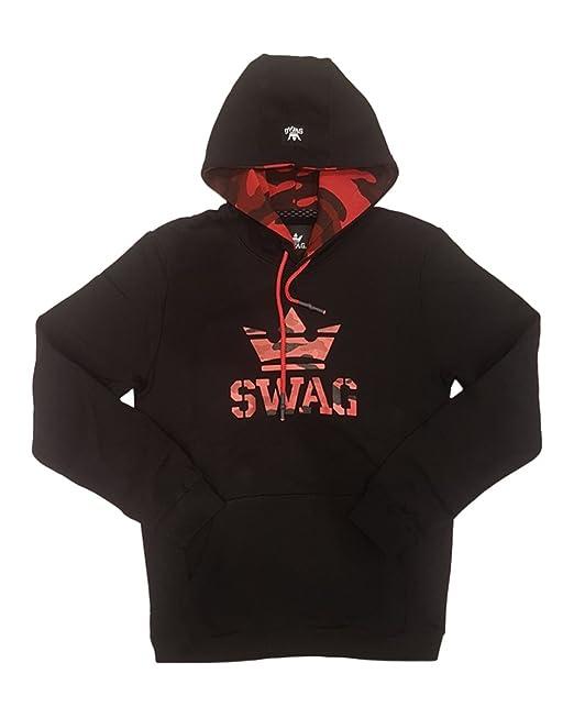 SWAG - Sudadera con Capucha - para Hombre Negro Large