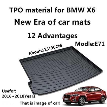 Amazon Com Aunazz Trunk Mat Cover For Bmw X6 E71 2016 2018years